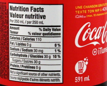 Coca Cola Nutrition Facts