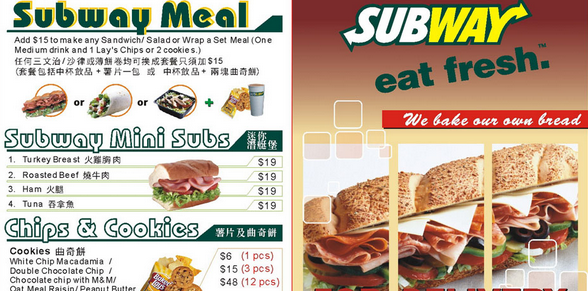 Subway Nutrional Facts and Calories Information | Nutrition Facts : The Truth Facts About Food, Fruit, Vegetable