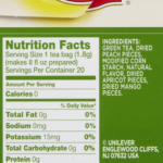 Lipton Green Tea Nutrition Facts