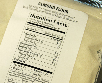 Bobs Red Mill Almond Flour Nutritional Information, I have ...  |Almond Flour Nutrition