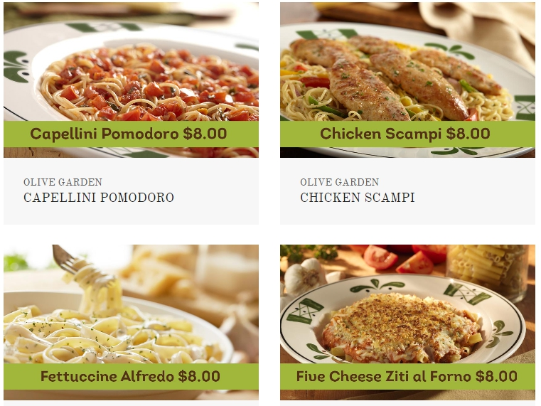 Olive Garden Menu Take Out Gardens Design Ideas
