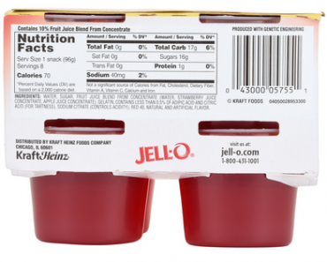 Jello Nutrition Facts